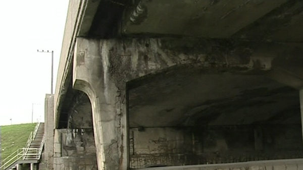 The city has already closed some overpasses for being in very poor shape. (Sept. 14, 2011)