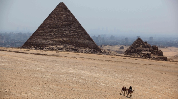 Khufu pyramid in Giza, Egypt