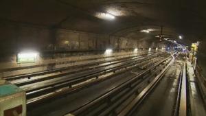 Inside an STM metro tunnel
