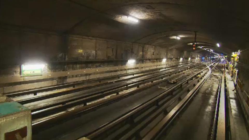 Inside an STM metro tunnel (Feb. 13, 2014)