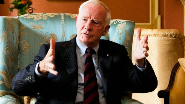 Governor General David Johnston ponders a question during an interview at his official residence Rideau Hall in Ottawa Wednesday September 14, 2011. THE CANADIAN PRESS/Fred Chartrand