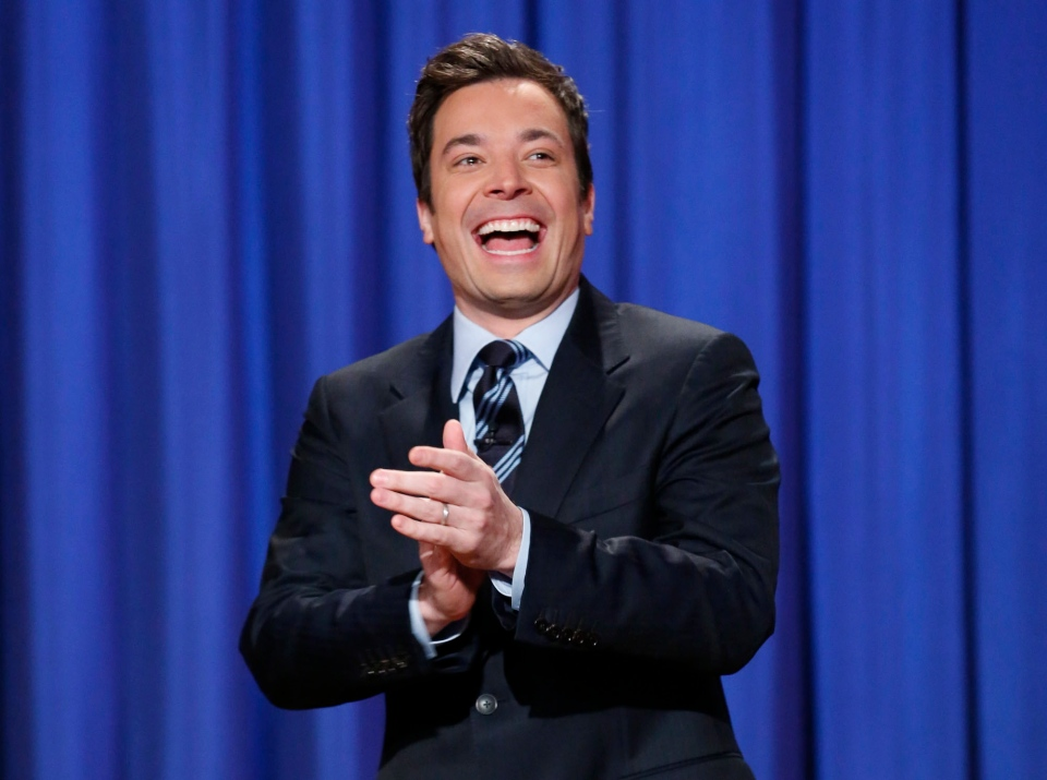 Jimmy Fallon, who will debut as host of his new show, 'The Tonight Show with Jimmy Fallon,' on Feb. 17, is seen in this April 4, 2013 photo released by NBC.