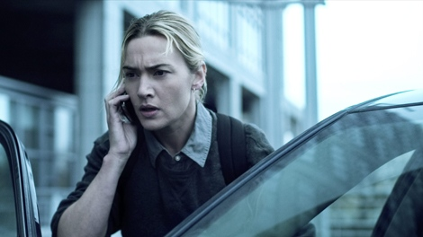 In this image released by Warner Bros. Pictures, Kate Winslet is shown in a scene from the film 'Contagion.' (AP Photo/Warner Bros. Pictures)