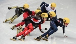 Canada's Valerie Maltais (107) tries to regain her position during the women's 1,500 metre short track competition at the Sochi Winter Olympics in Sochi Saturday, February 15, 2014. (Paul Chiasson / THE CANADIAN PRESS)