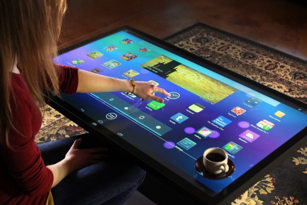 Android-powered coffee table tablet is big enough for ...