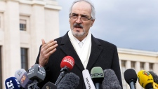 Syrian negotiator Bashar Jaafari at peace talks