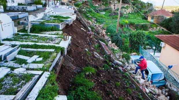 Earthquake in Lixouri, on the island of Kefalonia