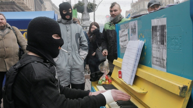 Protesters in Kyiv's Independence Square