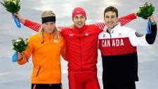 Denny Morrison wins bronze in men's 1,500 metre