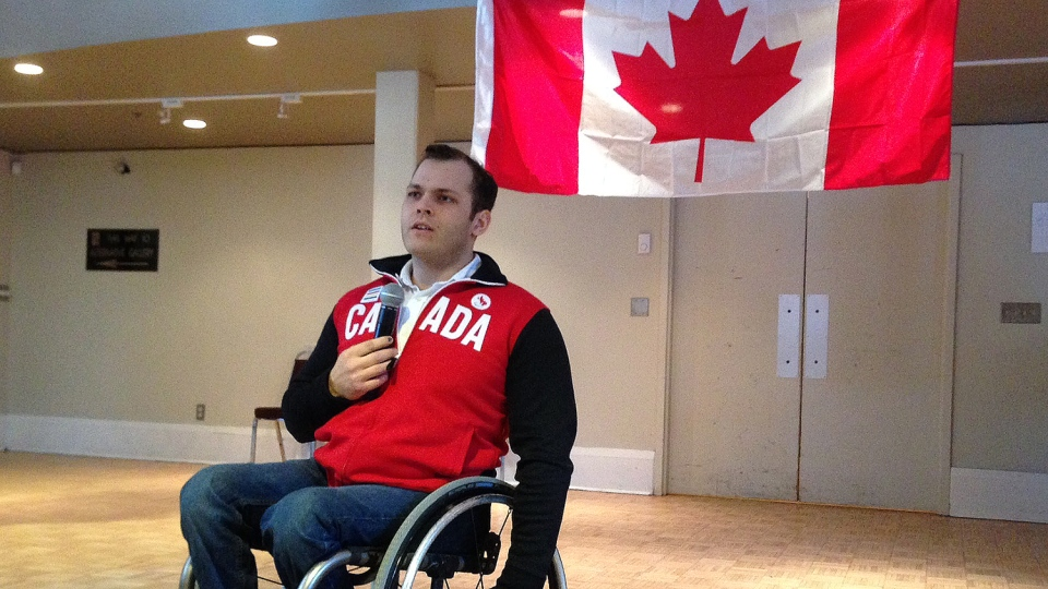 Graeme Murray is heading off to Sochi next month as part of Team Canada's sledge hockey team. (KC Colby / CTV Barrie)