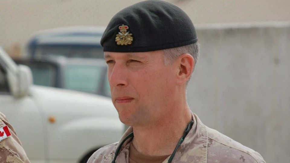 Retired lieutenant-general Andrew Leslie is shown on Wednesday, April 7, 2010. (Murray Brewster / THE CANADIAN PRESS)