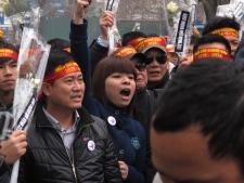 Anti-China protestors rally in Vietnam