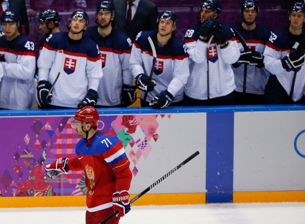 Russia wins in shootout