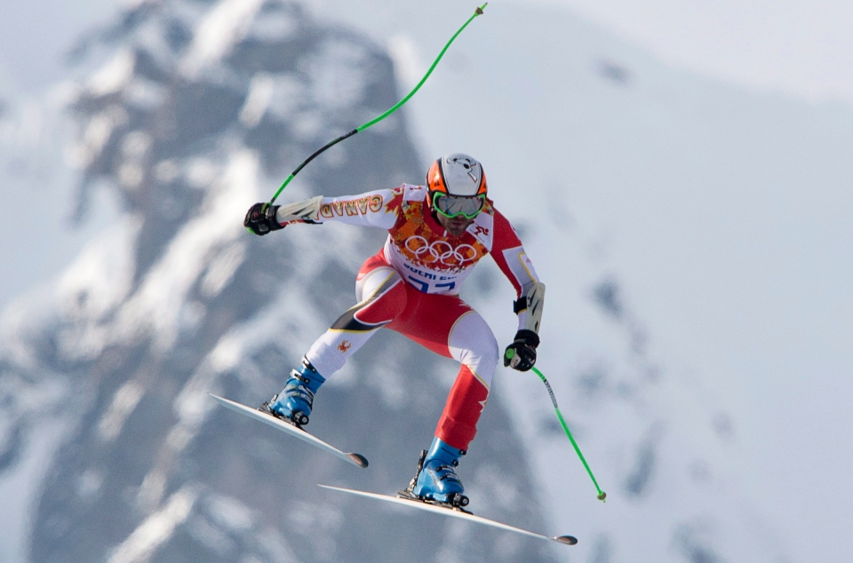 Canada's Jan Hudec skis in the Men's Super G at the Sochi Winter Olympics in Krasnaya Polyana, Russia, Sunday, Feb. 16, 2014. (Jonathan Hayward / THE CANADIAN PRESS)