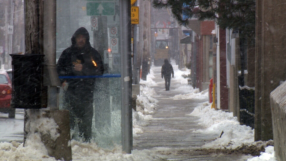 Heavy snow and high winds are wreaking havoc across the Atlantic provinces, Sunday, Feb. 16, 2014.