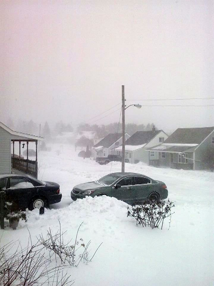 MyNews user Stewart Scanlan shared this image of a snow storm Pictou County, N.S., Sunday, Feb. 16, 2014.