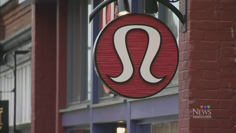 A Lululemon sign is seen in this file photo. (CTV)
