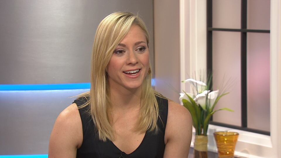 Former 10-time ice dance champion Shae-Lynn Bourne appears on Canada AM from CTV studios in Toronto, Monday, Feb. 17, 2014.