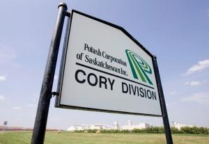 The Potash Corporation of Saskatchewan's Cory Potash mine is seen in Saskatoon, Sask., in this July 19, 2007 file photo. (THE CANADIAN PRESS/Geoff Howe)