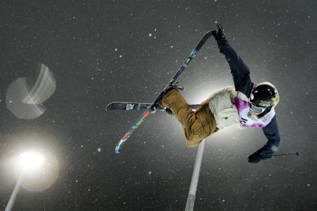 Mike Riddle halpipe freestyle skiing
