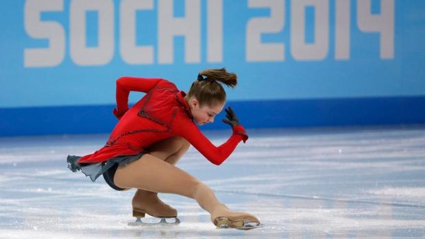 Julia Lipnitskaia competes in Sochi, Feb. 9, 2014