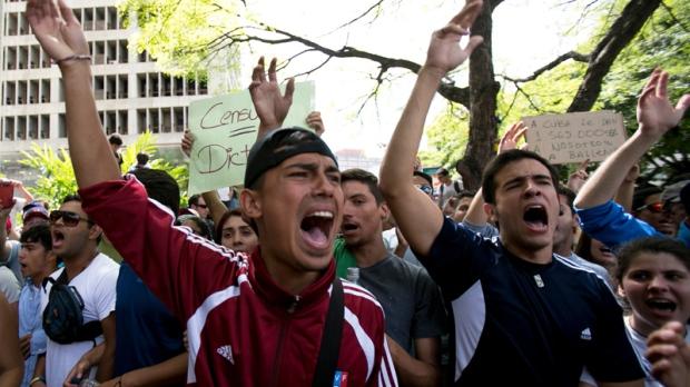 Students decry Venezuela President Nicolas Maduro