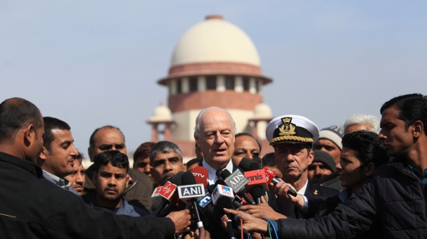 Italian envoy at India's Supreme Court