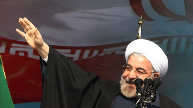 Rouhani in Tehran, Feb. 11, 2014