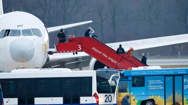 Ethiopian Airlines plane in Geneva, Switzerland
