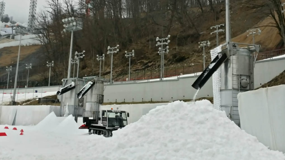 IceGen Inc. has been working around the clock in Sochi making snow.