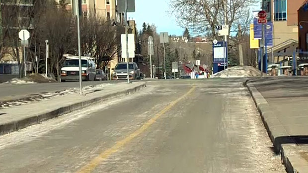 Cycle tracks are bike lanes protected by a physical barrier from moving cars, parked cars and sidewalks.