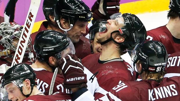 Latvia defeats Switzerland in men's Olympic hockey