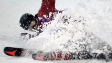 Mike Riddle wins silver in men's ski halfpipe