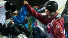 Mike Riddle wins silver in men's ski halfpipe