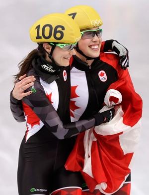Celebrating Olympic silver in Sochi, Russia