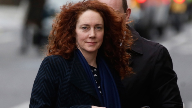 Rebekah Brooks in London, Feb. 19, 2014