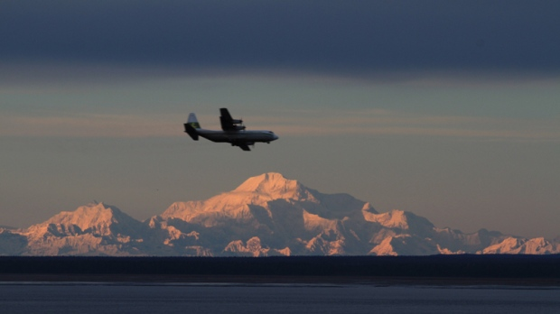 Approaching Ted Stevens Anchorage Int'l Airport