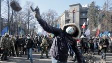 Protesters in Kyiv, Ukraine