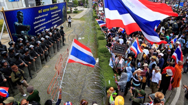 Protesters led by Suthep Thaugsuban in Bangkok