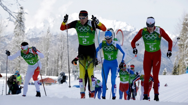 Cross-country team sprint in Sochi, Russia