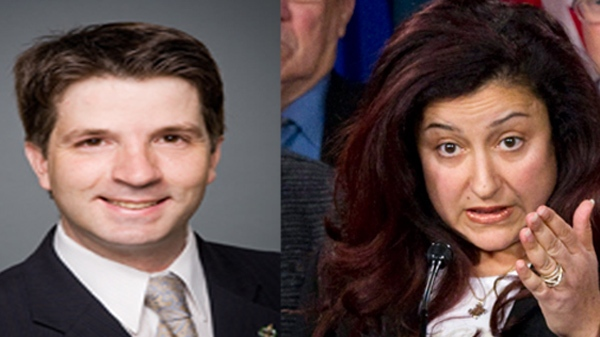 Bloc MPs Jean-Francois Fortin, left and Maria Mourani, right, are both likely to attempt to succeed Gilles Duceppe at the helm of the Bloc Quebecois. (Images Parliament of Canada and Canadian Press)