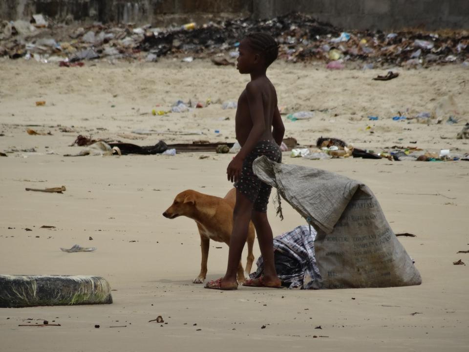 Freetown beach, Sierra Leone