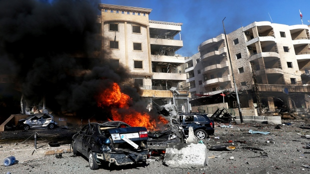 Explosion outside cultural centre in Beirut