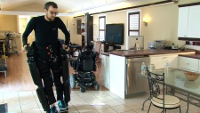Wearable Robots Mitch Brogan walks again