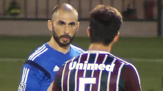 Marco Di Vaio seen on the pitch Wednesday evening.