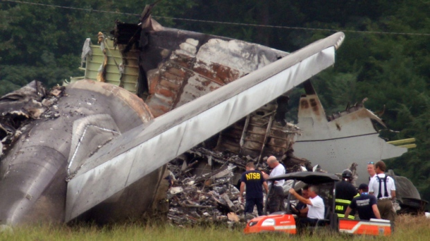 Crashed UPS A300 cargo plane in Alabama