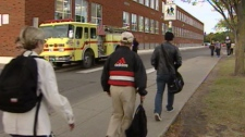 Students at Ross Sheppard high school were evacuated Monday after a CO leak.