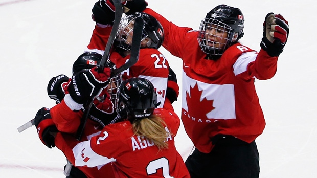 Canada's women's hockey team wins gold in Sochi