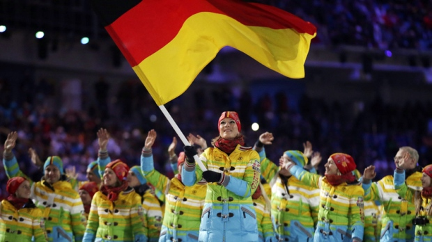 Team Germany at Sochi Olympics opening ceremony