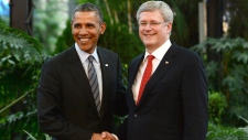 Harper Obama Olympic hockey bet